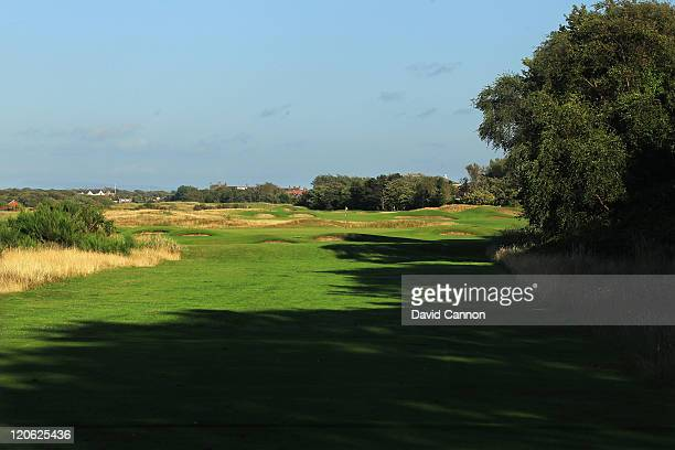 The 206 yards par 3 1st hole at Royal Lytham and St Annes Golf Club the venue for the 2012 Open Championship on July 25 2011 in Lytham St Annes...