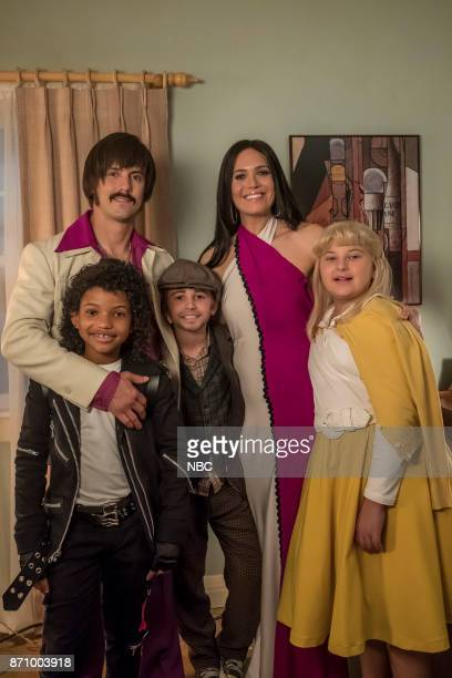 "The 20's"" Episode 206 -- Pictured: Lonnie Chavis as Randall, Milo Ventimiglia as Jack, Parker Bates as Kevin, Mandy Moore as Rebecca, Mackenzie..."