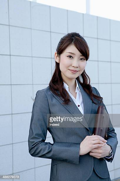 The 20th generation female businesswoman of a suit figure