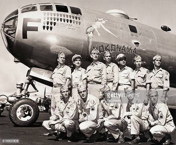 The 21st Bomber Command and the B29 Yokohama YoYo flew photo reconnaissance missions in the Pacific during World War II In the back row left to right...
