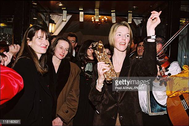 The 21th evening of Cesars in Paris France in February 1994 Sandrine Kiberlain Cesar for the Best Actress with Have and Have Not by Laetitia Masson
