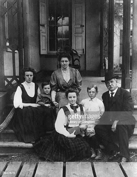 The 22nd and 24th President of the United States of America Grover Cleveland with his family
