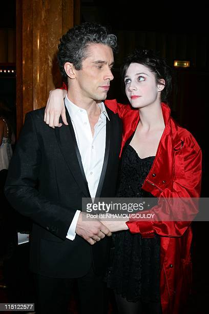 The 22nd Nuit des Molieres 2008 at the Folies Bergere in Paris France on April 28 2008 James Thierree and his friend