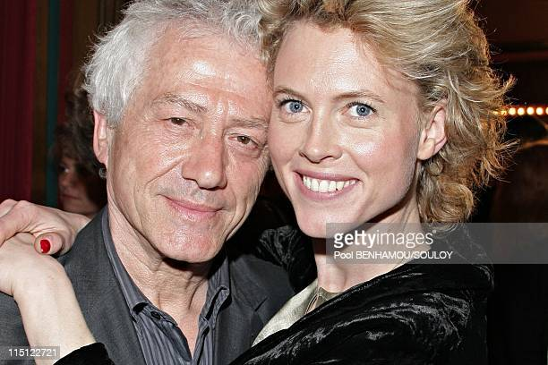 The 22nd Nuit des Molieres 2008 at the Folies Bergere in Paris France on April 28 2008 Jean Luc Moreau and his wife Mathilde Penin