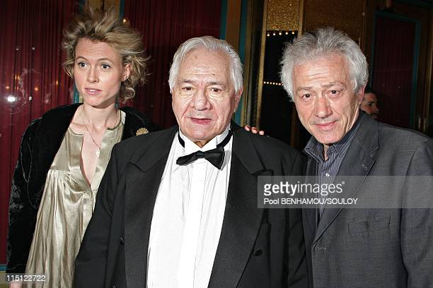 The 22nd Nuit des Molieres 2008 at the Folies Bergere in Paris France on April 28 2008 Mathilde Penin Michel Galabru and Jean Luc Moreau