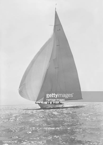The 23 Metre 'Candida' sailing with spinnaker 1935 'Candida' was designed by Charles Nicholson for the banker Mr Herman Andrae She was launched in...