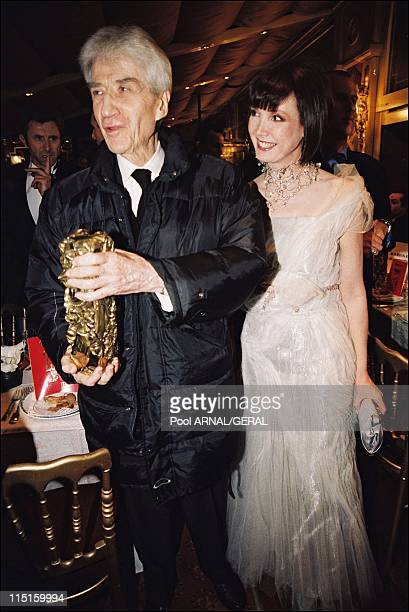 "The 23rd Cesar Awards Ceremony in Paris, France in February 1998 - Alain Resnais, Cesar Award for Best Film ""On connait la chanson"" and Sabine Azema."