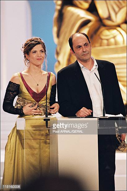 The 23rd Cesar Awards Ceremony in Paris France in February 1998 Jean Pierre Bacri Cesar Award for Best Supporting Actor and Agnes Jaoui Cesar Award...