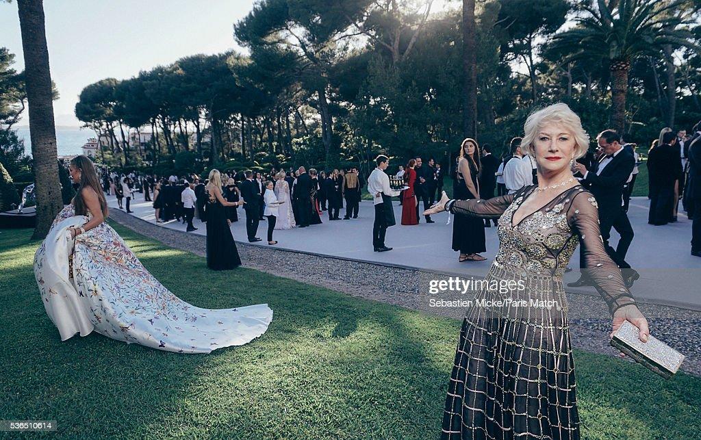 AMFAR Gala Evening at Cannes, Paris Match Issue 3497, June 1, 2016