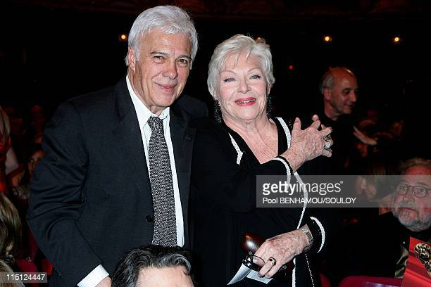 The 23rd 'Nuit des Molieres' at the Theatre de Paris France on April 26 2009 Guy Bedos and Line Renaud