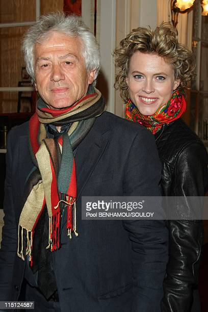 The 23rd Nuit des Molieres at the Theatre de Paris France on April 26 2009 Jean Luc Moreau and his wife Mathilde Penin