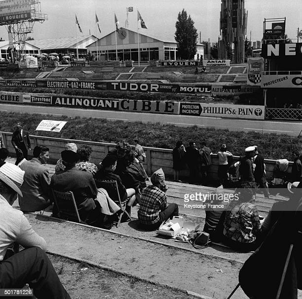 The 24 Heures du Mans Car Race stand on June 16 1963 in Le Mans France