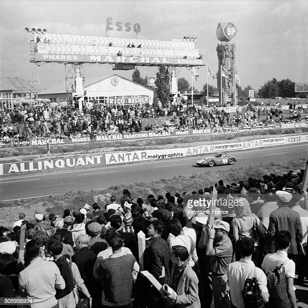 The 24 Heures Du Mans Car Racing in Le Mans France on June 16 1963