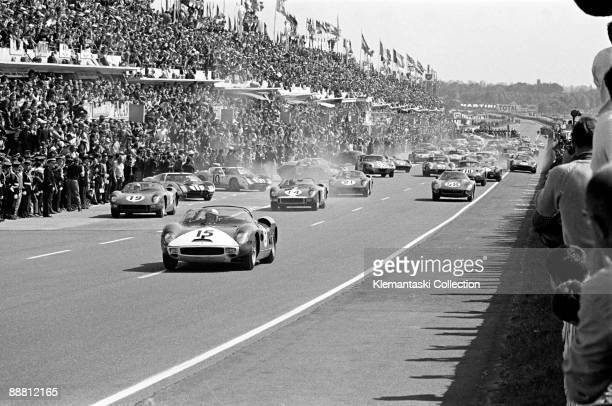 The 24 Hours of Le Mans Le Mans June 2021 1964 Here they come The longawaited duel between Ferrari and Ford has begun with the NART Ferrari 330P...