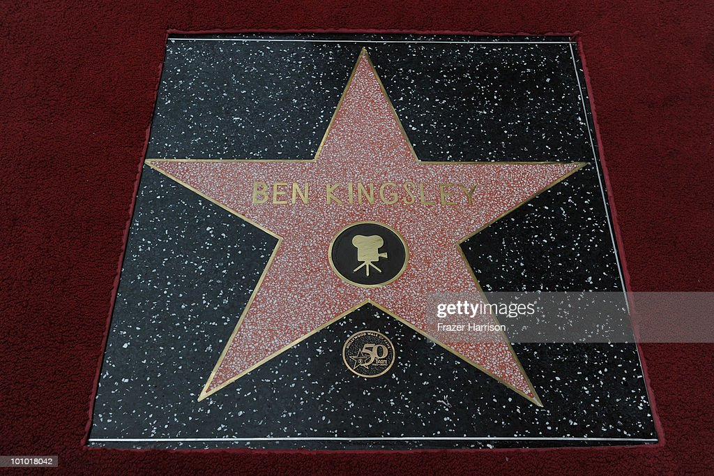 The 2,410th Star on the Hollywood Walk of Fame honoring Sir Ben Kingsley on May 27, 2010 in Hollywood, California.