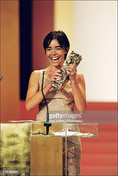The 24th Cesar Awards Ceremony in Paris France on March 06 1999 Elodie Bouchez Cesar Award for Best Actress in La vie revee des anges of Eric Zonca