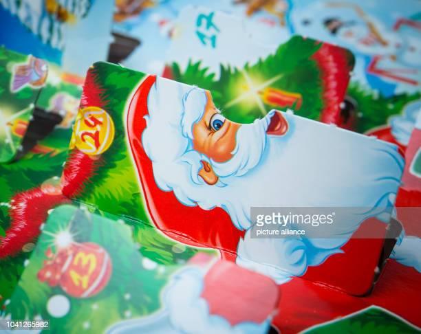 The 24th door of an Advent calendar has been opened inSieversdorf Germany 24 November 2015 Photo PATRICKPLEUL/dpa | usage worldwide