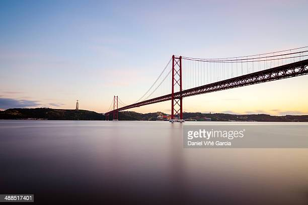 The 25 de Abril bridge over Tagus river