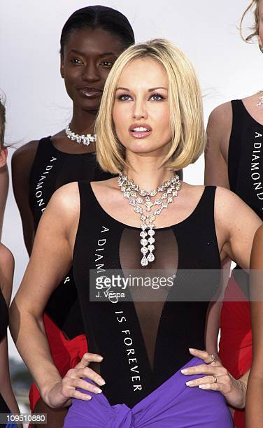The $25 Million A Diamond Is Forever Collection made a splash today at the Cannes Film Festival highlighted by Czech Model Adriana Karembeu with a...