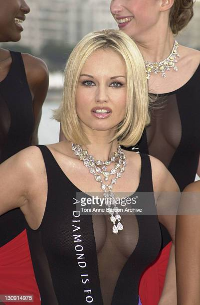 The $25 Million A Diamond Is Forever Collection made a splash today at the Cannes Film Festival with a bevy of bathing beauties dazzling in 2000...