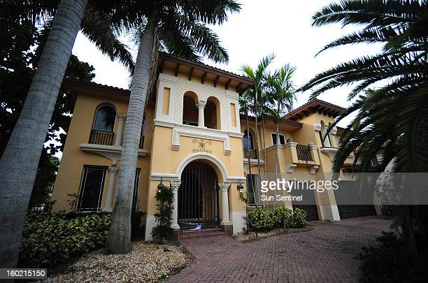 The $25 million home in a highend Boca Raton Florida neighborhood which is being occupied by a squatter is seen January 23 2013