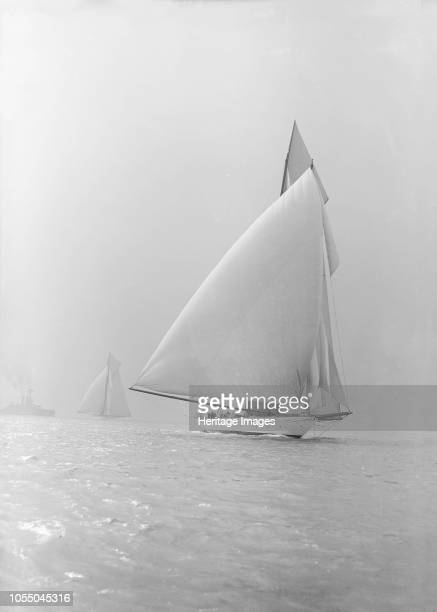 The 250 ton schooner 'Germania' running under spinnaker 1913 'Germania' was designed by Max Oertz and owned by the German industrialist Count Gustav...