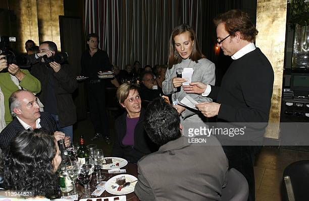 The 25th Anniversary of the foundation 'The voice of the child ' whose godmother is Carole Bouquet In Paris France On November 28 2005At coffee shop...