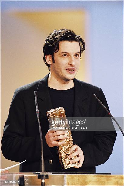 The 25th Cesar Awards Ceremony in Paris France on February 19 2000 Eric Caravaca Cesar Award for Most Promising Actor in C'est quoi la vie of...