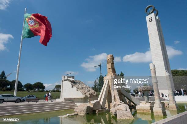The 25th of April Revolution monument at The Eduardo VII Park on the 27th May 2018 in Lisbon Portugal The Carnation Revolution also referred to as...
