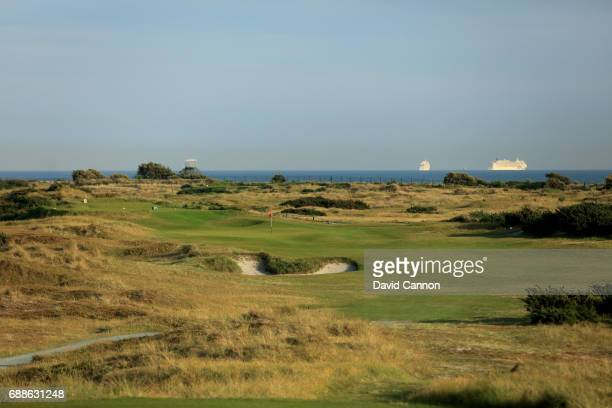 The 270 yards par 4, 10th hole 'Pan-Ko-Chai' at Hayling Golf Club on May 22, 2017 in Hayling Island, England.