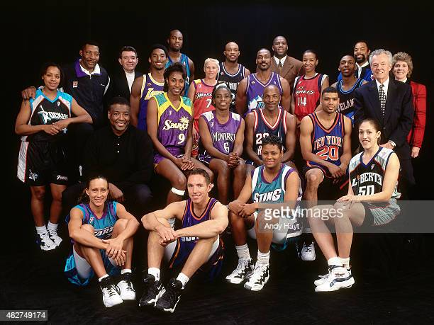 The 2Ball participants poses for a portrait during All Star Saturday Night as part of NBA AllStar Weekend on February 7 1998 in New York City NOTE TO...