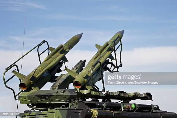 the 2k12 kub mobile surface-to-air missile system. - anti aircraft stock photos and pictures