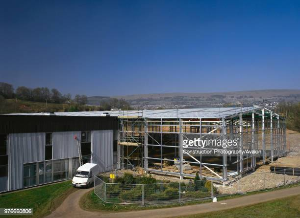 The £2million Millennium Coastal Park Visitor Centre The Discovery Centre near Llanelli The impressive landmark building with its striking steel and...