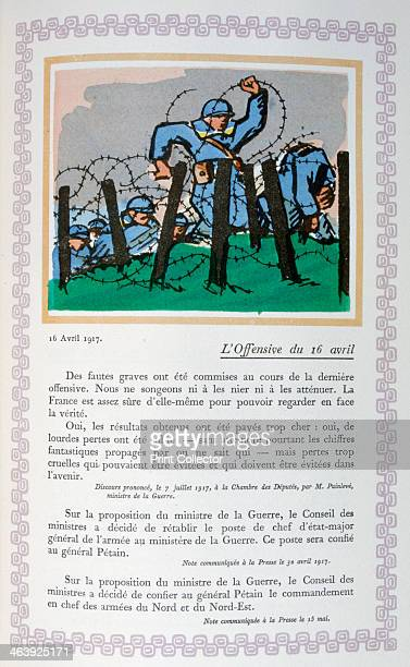 The 2nd Battle of the Aisne 16th April A book of the principal events of the war period A print from Le livre des heures héroïques et douloureuses by...