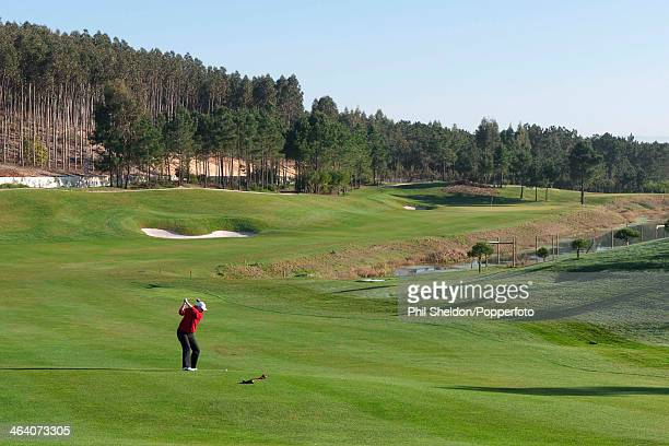 The 2nd hole of the Bom Sucesso Golf Resort in Portugal, circa 1990.