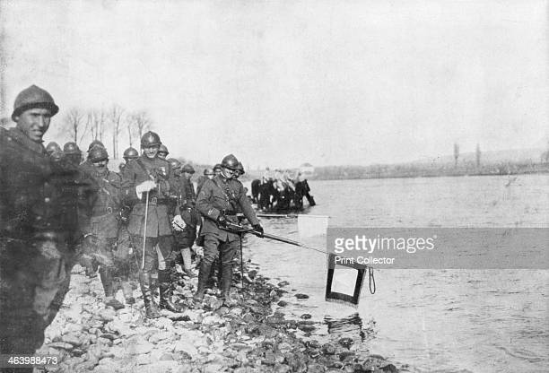 The 2nd Moroccan division bathes its flags in the Rhine Huningue Alsace France 21 November 1918