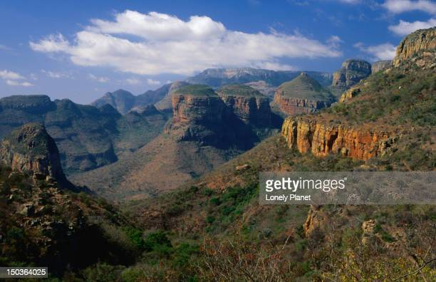 The 3 Rondavels rock formation, Blyde River Canyon Nature Reserve.