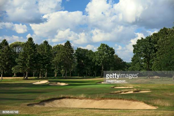 The 308 yards par 4 seventh hole at Tandridge Golf Club which was designed by the renowned golf course architect Harry Colt in 1924 on July 3 2017 in...