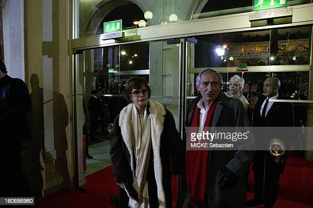The 30th ceremony of the 2005 CESAR look behind the scenes of the Theatre du Chatelet in PARIS Alain Corneau's arrival with his wife Nadine...