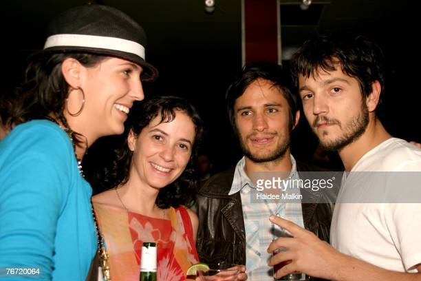 The 32nd Annual Toronto International Film Festival Anna Terrazas Marie Moreta actor Gael Garcia Bena and actor Diego Luna at Latin Party at C Lounge...