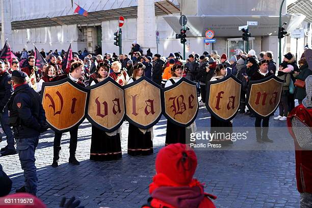 CONCILIAZIONE ROMA RM ITALY The 32nd edition of the historical and folkloric Viva la Befana march to affirm and transmit the values of the Epiphany...