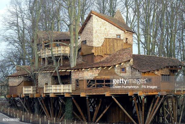 The 3.3m treehouse in Alnwick Castle gardens. The tree house is believed to be one of the world's biggest and is now open to the public.