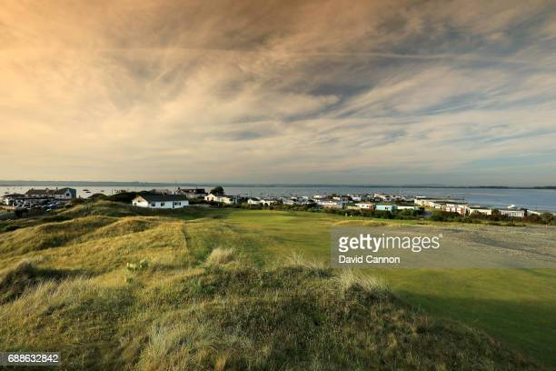 The 341 yards par 4 12th hole 'Widow' at Hayling Golf Club on May 22 2017 in Hayling Island England