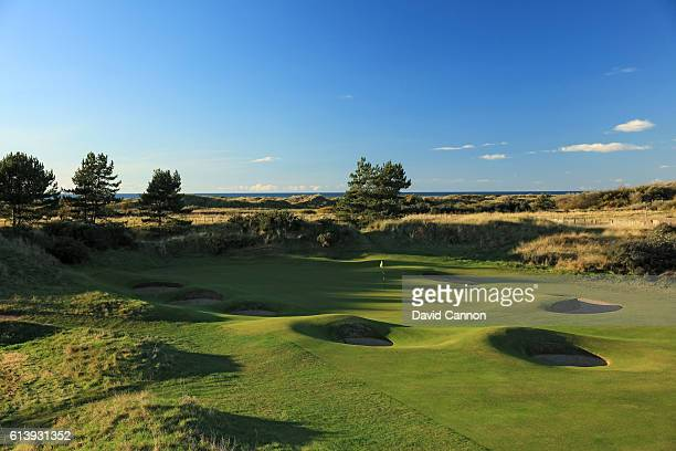 The 346 yards par 4 fifth hole at Royal Birkdale Golf Club the host course for the 2017 Open Championship on October 10 2016 in Southport England