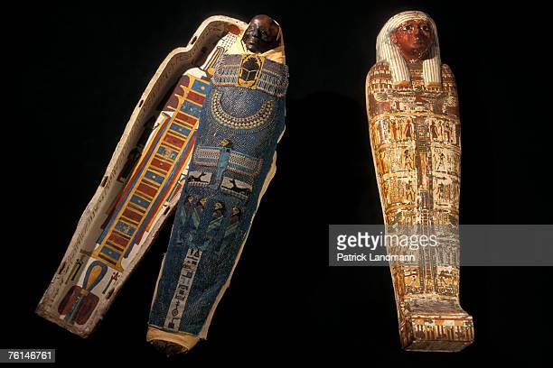 The 3500 yearold mummy of Nemenket Amen a high ranking official on display on the Saint Lazarus' Island which is a location for the Mekhitarist...