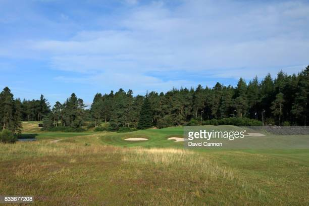 The 355 yards par 4 fourth hole on the Queen's Course at The Gleneagles Hotel on August 10 2017 in Auchterarder Scotland