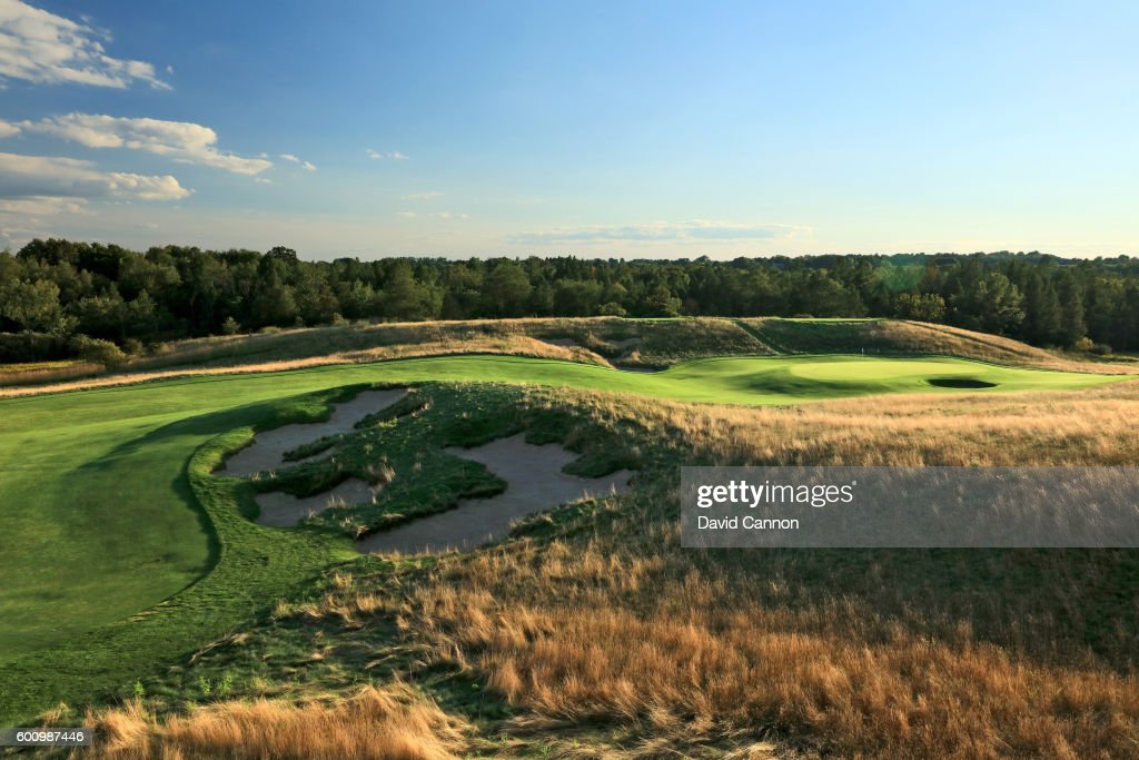 The 358 yards par 4, second hole at Erin Hills Golf Course