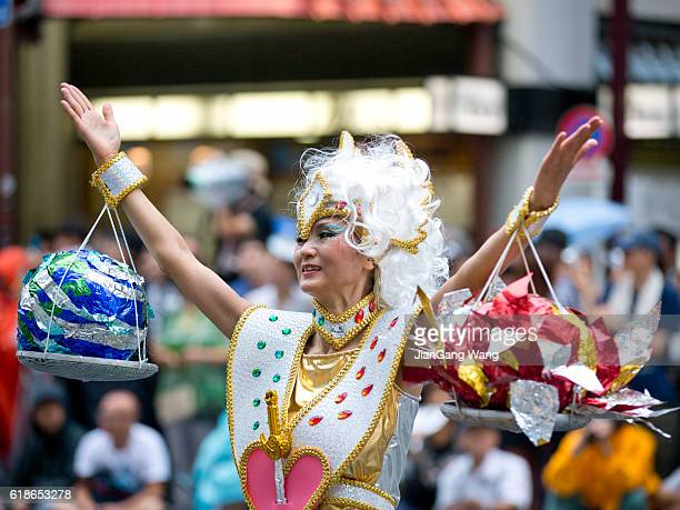 the 35th asakusa samba carnival 2016 - old women in pantyhose stock pictures, royalty-free photos & images