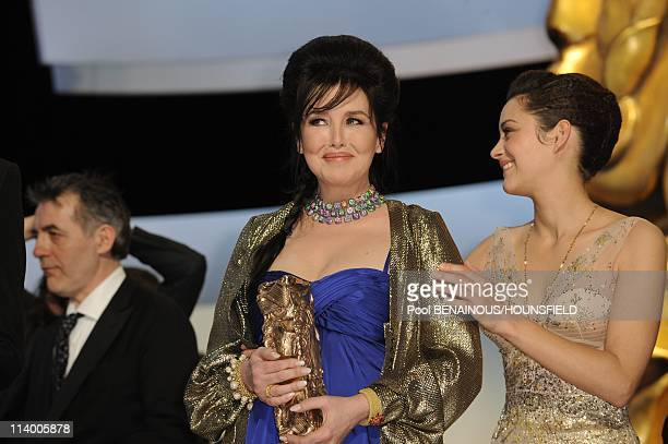 The 35th Cesar Film Awards held at Theatre du Chatelet In Paris France On February 27 2010Marion Cotillard and Isabelle Adjani