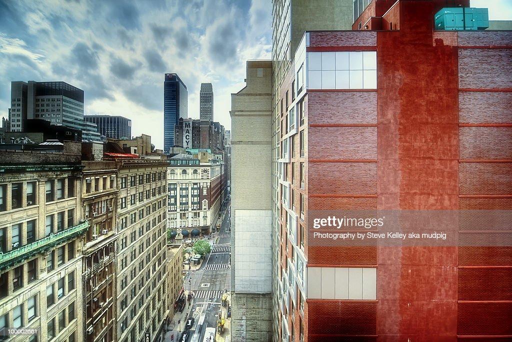 The 35th street cityscape, new york city : Stock Photo